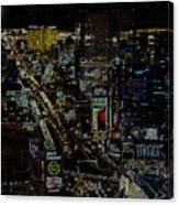 Naked Moon Over The Strip Canvas Print