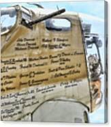 Names On B-17 Canvas Print
