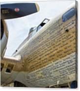 Names Pilots B-17 Canvas Print