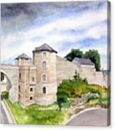 Namur, Citadelle Et Pont Des Hollandais Canvas Print