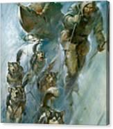 Nansen Conqueror Of The Arctic Ice Canvas Print