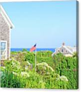 Nantucket Cottages Overlooking The Sea Canvas Print