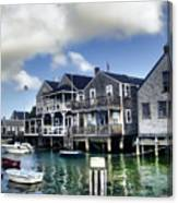 Nantucket Harbor In Summer Canvas Print