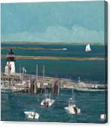 Nantucket Harbor Canvas Print
