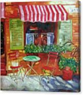 Napa Bistro Canvas Print