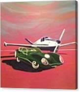 Napa Valley Lotus And Bonanza Beechcraft Canvas Print