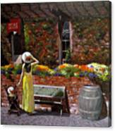 Napa Wine Cellar In Spring Canvas Print