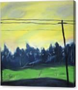 Napeague Road Canvas Print