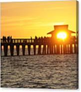 Naples Florida Sunset Pier Canvas Print