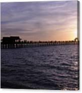 Naples Pier Sundown Canvas Print
