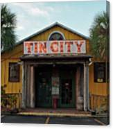 Naples Tin City - Open For Business Canvas Print