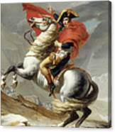 Napoleon Crossing The Alps, Jacques Louis David, From The Original Version Of This Painting  Canvas Print