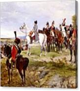 Napoleon Watching The Battle Of Friedland Canvas Print