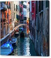 Narrow Canal View Venice Canvas Print
