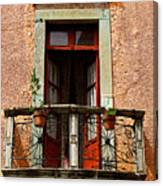 Narrow Red Window Canvas Print
