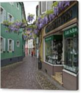 Narrow Street In Freiburg Canvas Print
