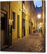 Narrow Street In Old Town Of Wroclaw In Poland Canvas Print