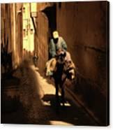 Narrow Streets Fes Male Donkey  Canvas Print