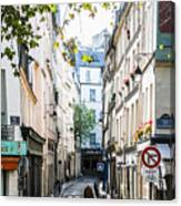 Narrow Streets Of The Latin Quarter In Paris, France Canvas Print