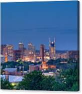 Nashville By Night 1 Canvas Print