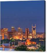 Nashville By Night Canvas Print
