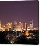 Nashville Cityscape 3 Canvas Print