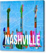 Nashville Guitars Canvas Print