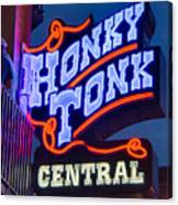 Nashville Honky Tonk Central Canvas Print