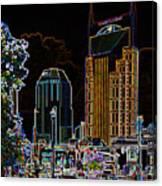 Nashville In Neon Canvas Print