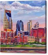 Nashville Skyline Painting Canvas Print