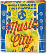 Nashville Tennessee Poster Canvas Print