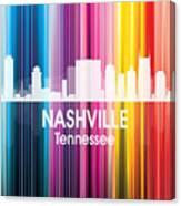 Nashville Tn 2 Squared Canvas Print