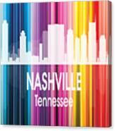 Nashville Tn 2 Vertical Canvas Print