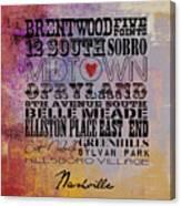 Nashville Tn V1 Canvas Print