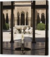Nasrid Palaces Alhambra Granada Spain Europe Canvas Print