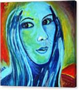 Natasha In Blue Canvas Print
