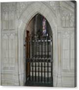 National Cathedral Grated Door Canvas Print