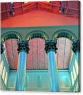 National Columns Blue Canvas Print