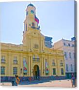 National History Museum On Plaza De Armas In Santiago-chile Canvas Print