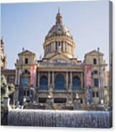 National Palace Barcelona Canvas Print