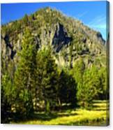 National Park Mountain Canvas Print