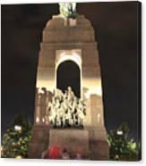 National War Memorial At Night Canvas Print