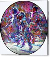 Native American - 3 Young Children Pow Wow Dancing Canvas Print