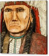 Native American Chief With Pipe Canvas Print