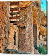 Native American Cliff Dwellings Canvas Print