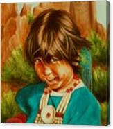 Native American Girl Canvas Print