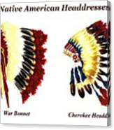 Native American Headdresses Canvas Print