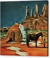 Native American Hogan Canvas Print