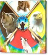 Native American Medicine Wheel Canvas Print