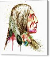 Native American Side Face Canvas Print